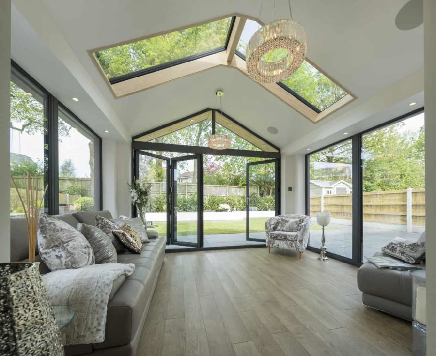replace conservatory with extension